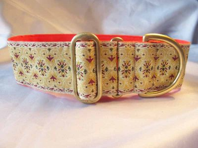 "Boomer Cream 2"" Satin Lined House Collar"