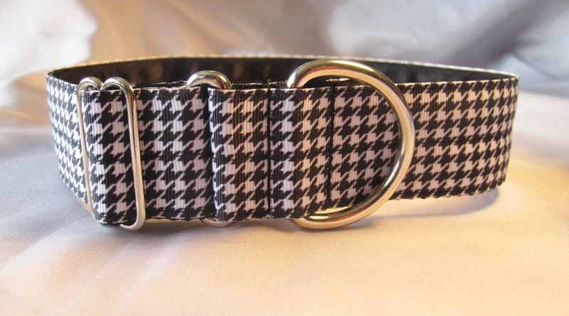 "Dog Tooth 1.5"" Satin Lined House Collar"