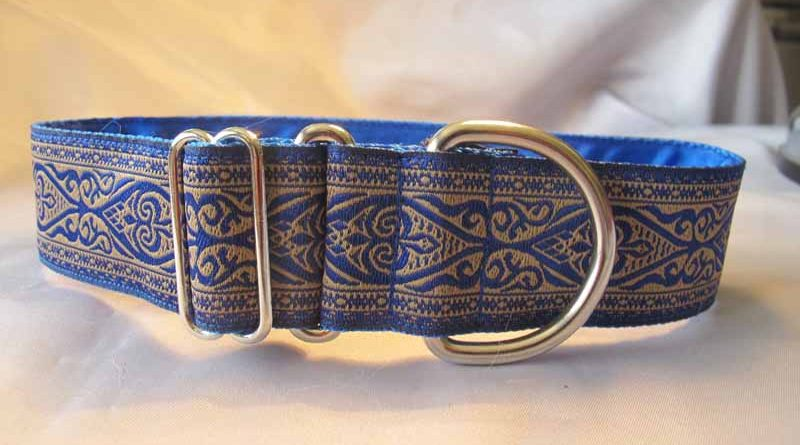 "Georgie Blue 1.5"" Satin Lined House Collar"