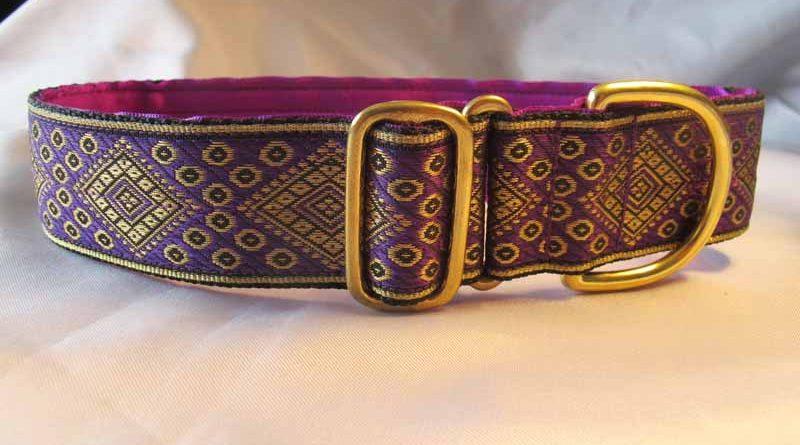 "Luca Purple 1.5"" Satin Lined House Collar"