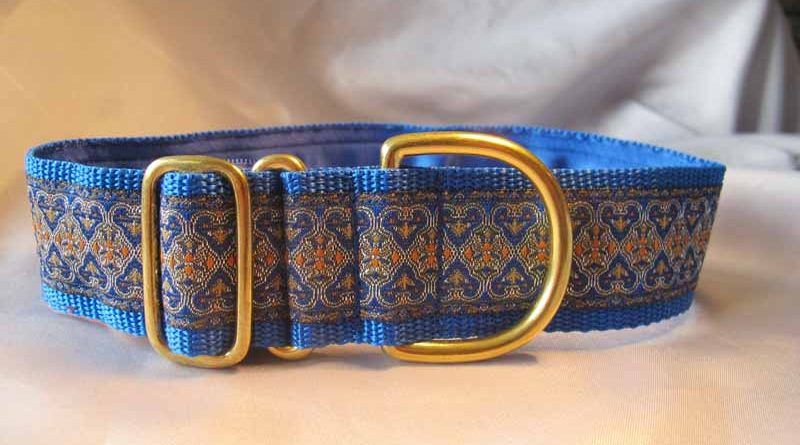 "Thomas Blue 1.5"" Satin Lined House Collar"