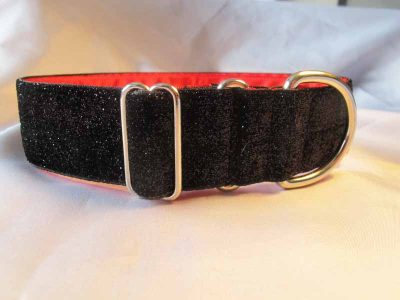 Tinkerbell Black 1.5 Satin Lined House Collar