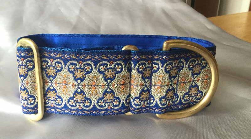"""Boomer Blue 2"""" Satin Lined House Collar"""