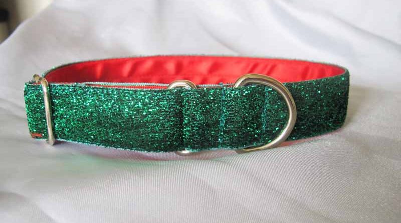 "1"" Satin Lined Christmas Tinkerbell House Collar"