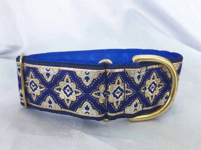 """Galloway Blue 2"""" Satin Lined House Collar"""