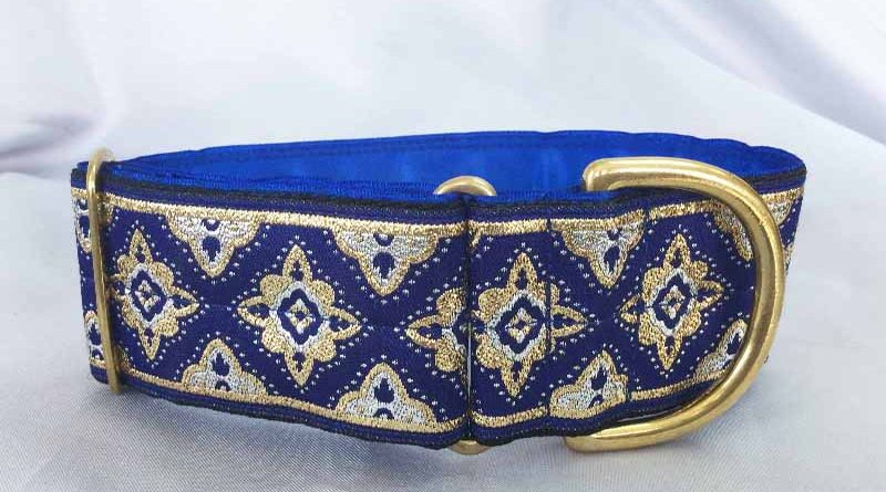"Galloway Blue 2"" Satin Lined House Collar"