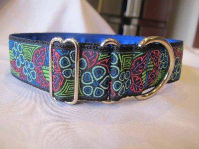 "Julie Blue 1.5"" Satin Lined House Collar"