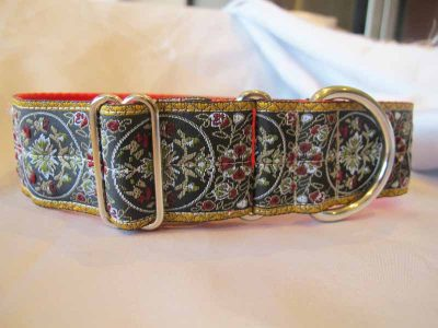 "1.5"" Peachy Satin Lined House Collar"