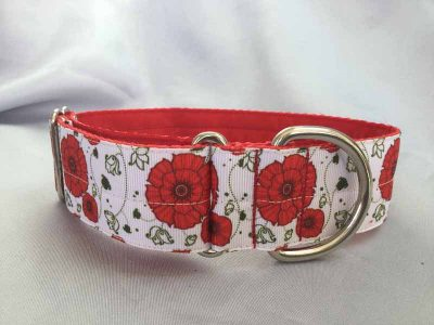 """Poppies 1.5"""" Satin Lined House Collar"""