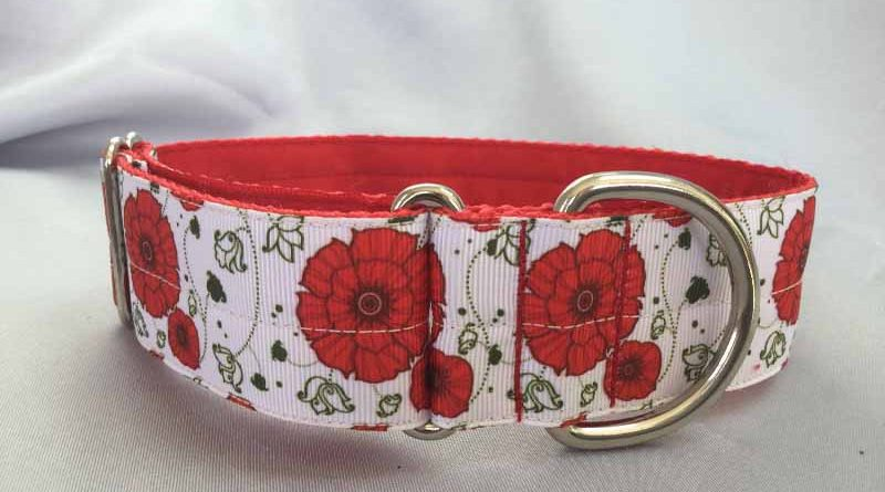 "Poppies 1.5"" Satin Lined House Collar"