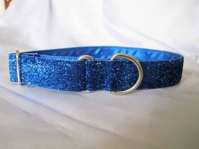 """Royal Blue Tinkerbell 1"""" Satin Lined House Collar"""