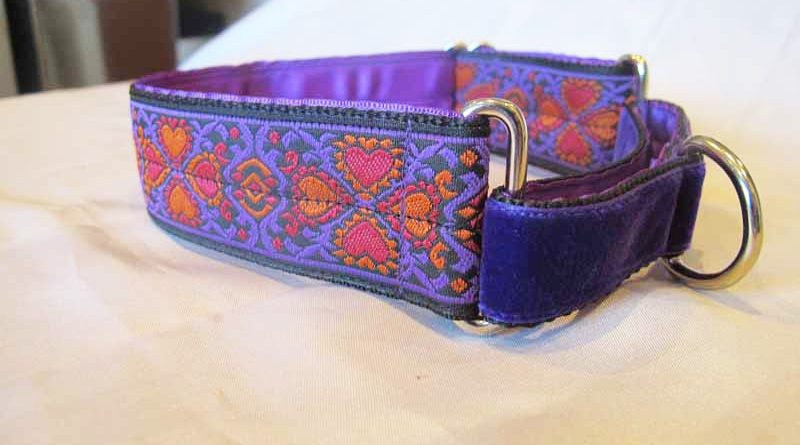 "1.5"" Satin Lined Martingale Collar with rich velvet front"