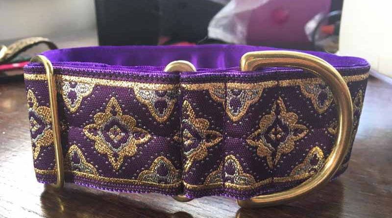 "Galloway Purple 2"" Satin Lined House Collar"