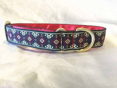 "Dara Red 1"" Satin Lined House Collar"