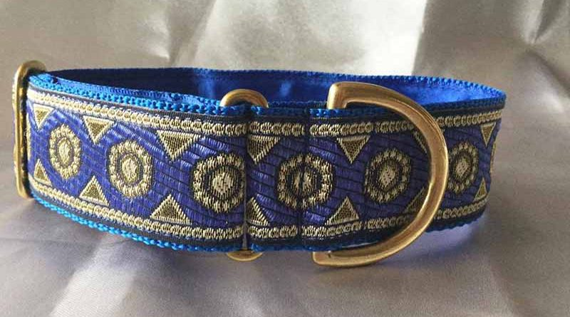 Siri Blue 1.5″ Satin Lined House Collar