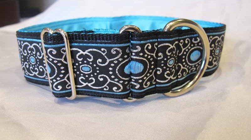 Jewel Blue 1.5″ Satin Lined House Collar