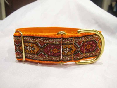 "Mexican Orange 1.5"" Satin Lined House Collar"