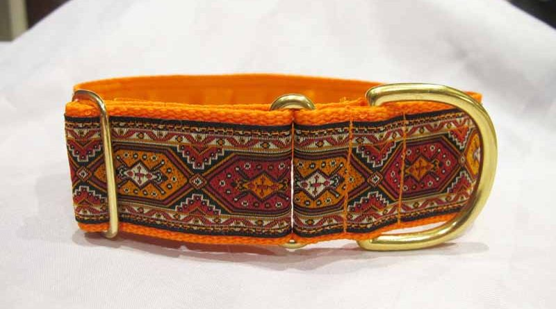 Mexican Orange 1.5″ Satin Lined House Collar