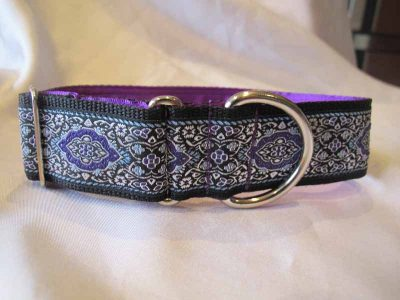 "Beryl Purple 1.5"" Satin Lined House Collar"