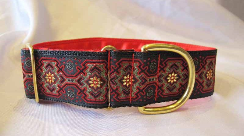 Skye Red/Black 1.5″ Satin Lined House Collar