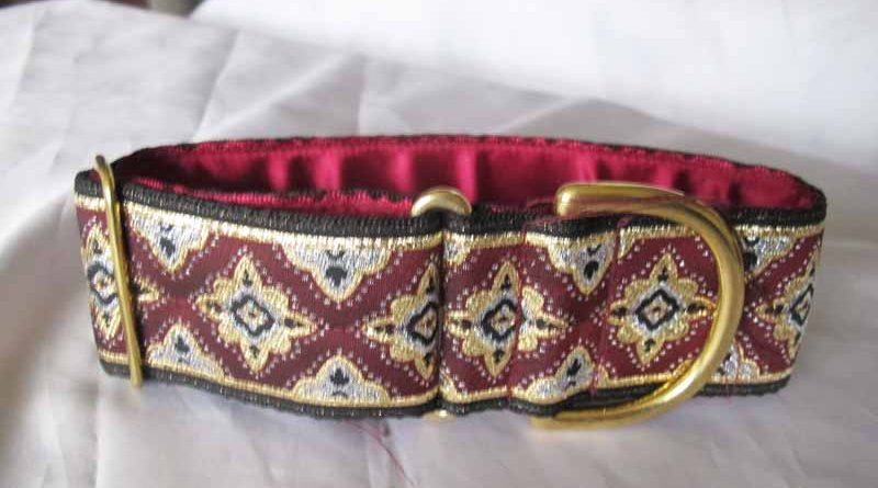 "Burgundy Galloway 2"" Satin Lined House Collar"