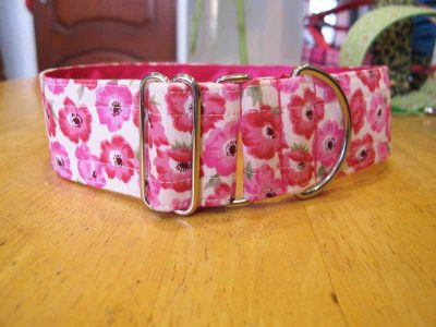 "1.5"" Satin Lined Pink Pops Soft Cotton House Collar"