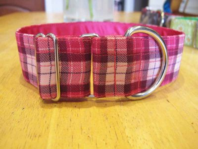 Pink Tartan Soft Cotton House Collar