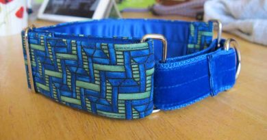 Green And Black 1.5″ Satin Lined Martingale Collar