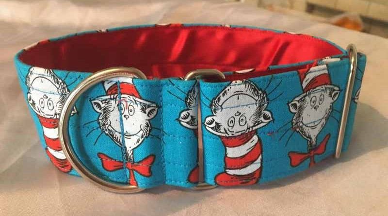 Cat In The Hat 2″ Satin Lined Soft Cotton House Collar