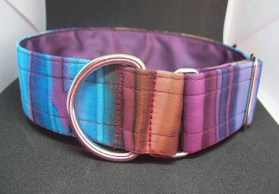 Purple Mossy 1.5″ Satin Lined Soft Cotton House Collar