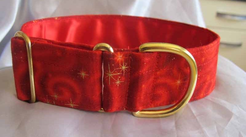 Red Swish 1.5″ Satin Lined Soft Cotton House Collar