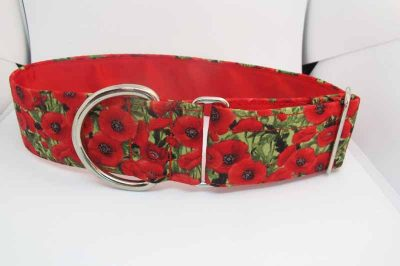 Poppy Cluster Satin Lined Soft Cotton House Collar