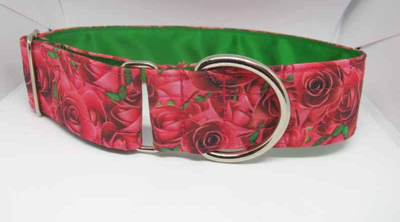 Rosie Red Satin Lined Soft Cotton House Collar