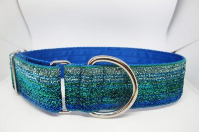"1.5"" Tinkerbell Blue And Green Satin Lined House Collar"
