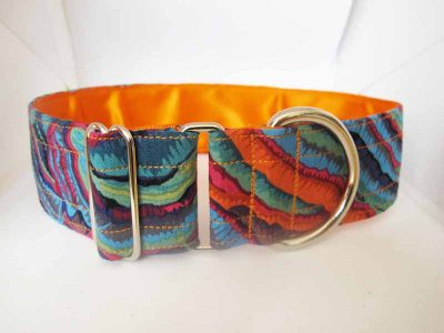 1.5″ Orange Fungi Satin Lined House Collar