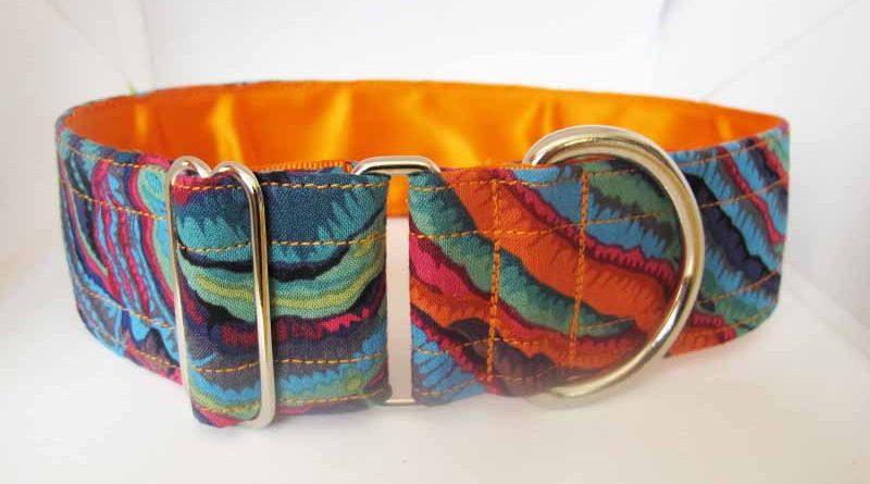 1.5″ Orange Fungi Satin Lined House Collar