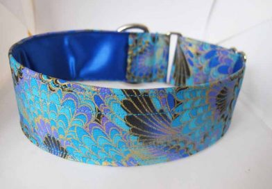 Peacock Blue Satin Lined Cotton House Collar