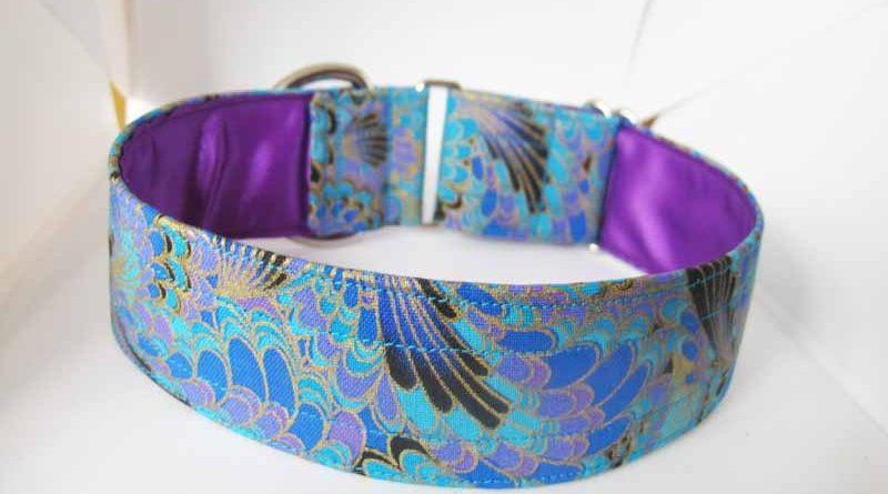 Peacock Purple Satin Lined Cotton House Collar