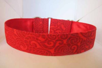 Satin Lined Scarlet Cotton House Collar