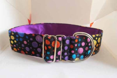 Purple Bubbles Satin Lined Cotton Collar