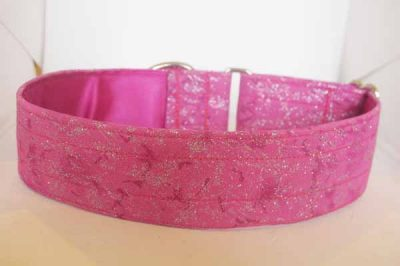Bambi Pink Satin Lined Cotton Collar