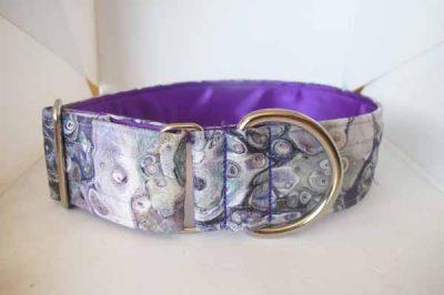 Misty Purple Satin Lined Cotton Collar
