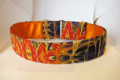 Addy Orange Satin Lined Ribbon Collar