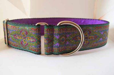 Paisley Satin Lined Ribbon Collar