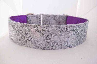 Roo Purple Satin Lined Cotton Collar