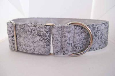 Roo Silver Satin Lined Cotton Collar