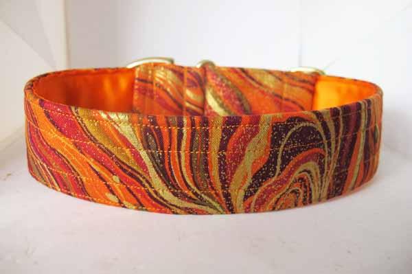 Orange Satin Lined Dallas Cotton House Collar