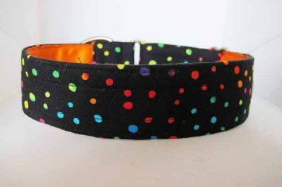 Dotty Satin Lined Cotton House Collar
