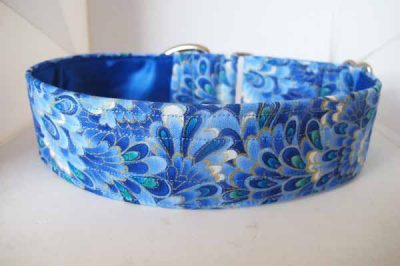 Fimble Turquoise Satin Lined Cotton House collar