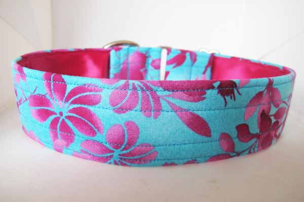 Pink Satin Lined Fiona Cotton House Collar